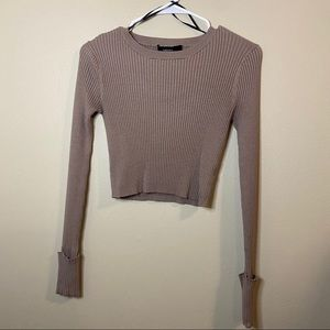Forever 21 brown crop sweater